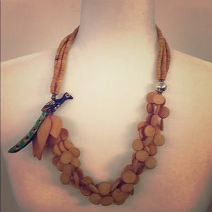 Jewelry - Handmade Wooden Parrot Necklace